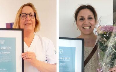 Priser för arbete mot gynekologisk cancer utdelade